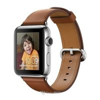 Smart watches,sports bracelets Apple Watch Series 2 42mm Stainless Steel Case with Saddle Brown Classic Buckle Band (MNPV2)