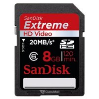Memory card, USB Flash SanDisk SDHC Extreme HD Video 8Gb (SDSDX-008G-X46)
